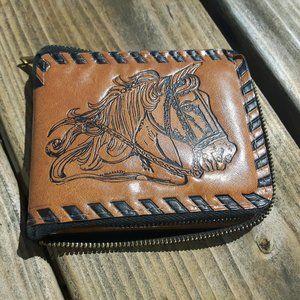 Horse Wallet Equestrian Zip Up Wallet
